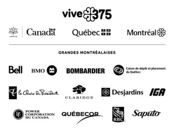 Logo: Partenaires - Grandes Montréalaises (Groupe CNW/Société des célébrations du 375e anniversaire de Montréal)