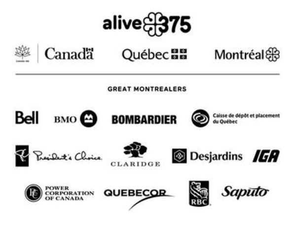 Logo: Great Montrealers partners (CNW Group/Société des célébrations du 375e anniversaire de Montréal)