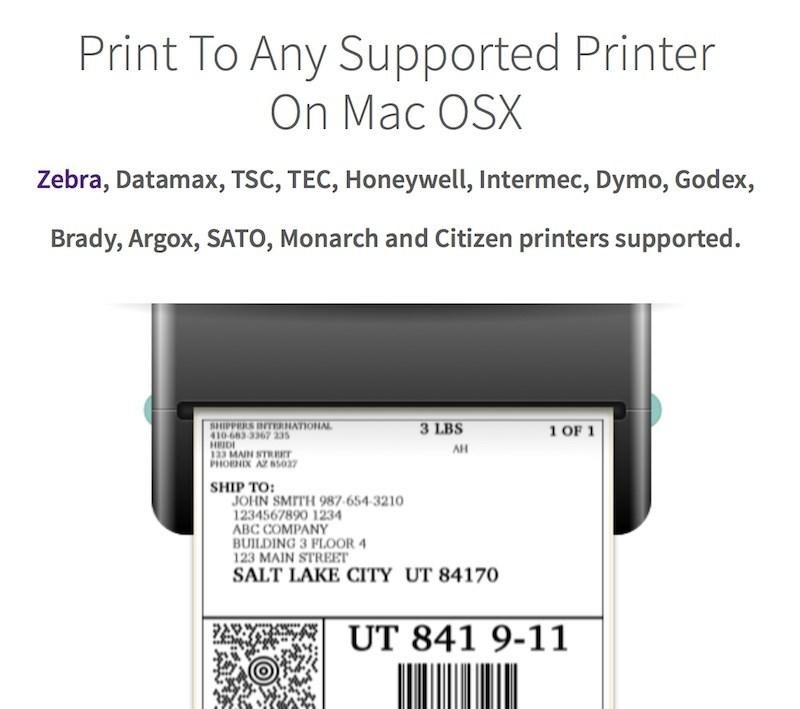 print labels on mac