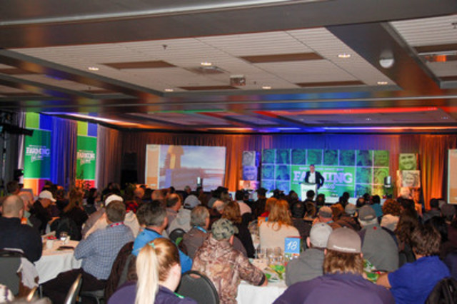A full house of more than 225 growers, retailers and partners at the 4th annual BASF Knowledge Harvest event in Yorkton, Saskatchewan. (CNW Group/BASF Canada Inc.)