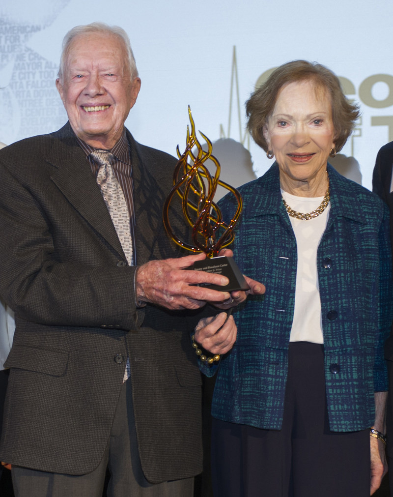 The Georgia Institute of Technology awarded the Ivan Allen Jr. Prize for Social Courage to former President and First Lady Jimmy and Rosalynn Carter Feb. 17, marking the first time a couple received the Institute's top honor for efforts to improve the human condition.