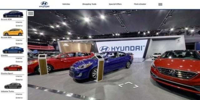 À ceux et celles qui ne pourront pas se rendre au Salon international de l'auto du Canada 2017, à Toronto, avant sa fermeture le 26 février prochain, Hyundai Auto Canada Corp. offre la possibilité de jeter un coup d'œil aux principaux attraits de son stand, quels que soient la région et l'appareil utilisé. L'affichage virtuel interactif du stand et des véhicules Hyundai exposés, qui demeurera en ligne jusqu'au 6 mars, marque une première pour un fabricant d'automobiles. (Groupe CNW/Hyundai Auto Canada Corp.)