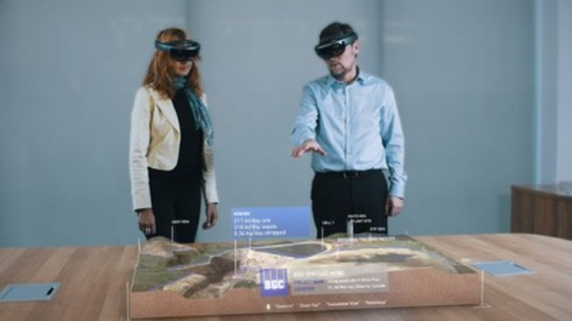 We have assembled a unique team with expertise in earth sciences and mixed reality holographic visualization and created a functional proof of concept, viewable today on the Microsoft HoloLens platform. (CNW Group/BGC Engineering Inc)