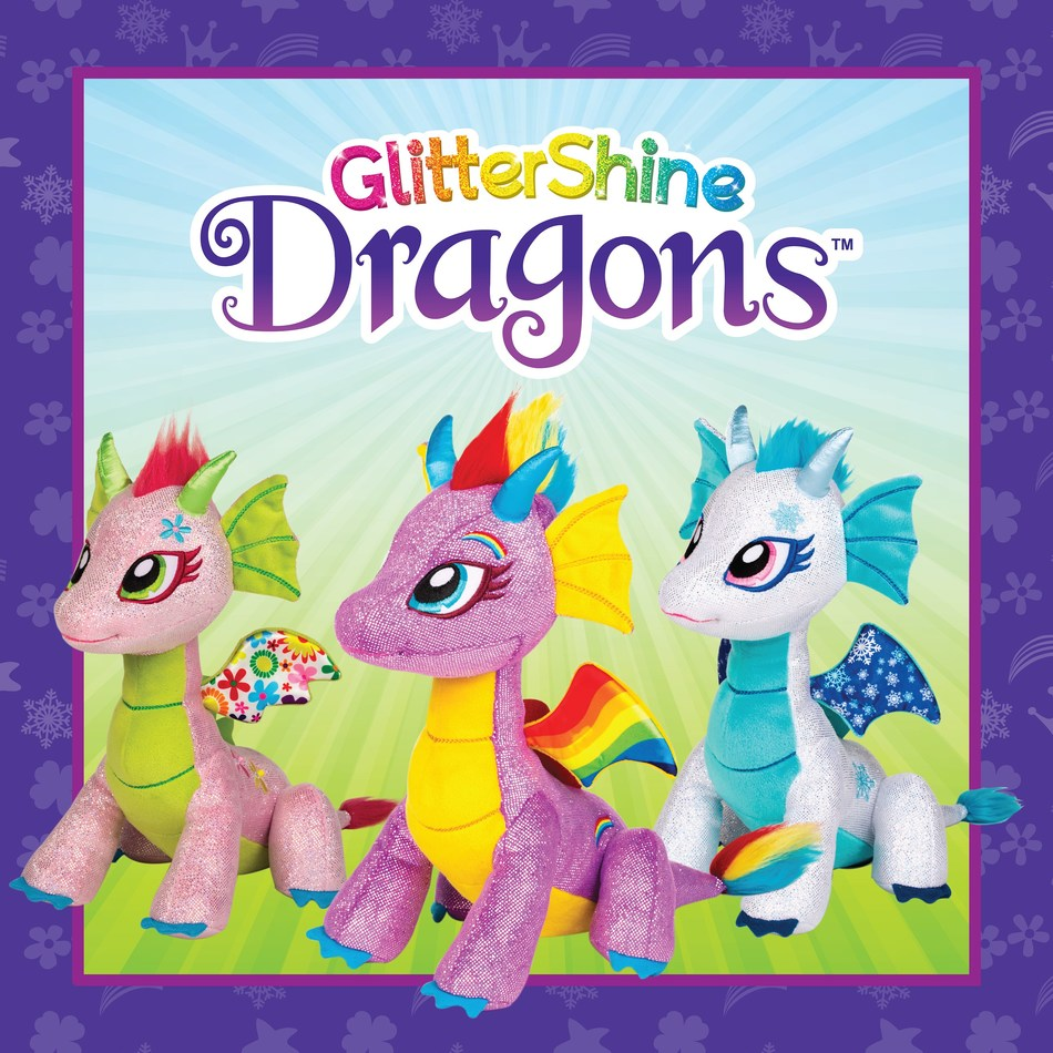 Snaptoys launches GlitterShine Dragons at Toy Fair 2017, a new line of six whimsical and beautiful plush dragons. Their stylish hair, sparkly fabrics, and magical personalities will let children's imaginations soar!
