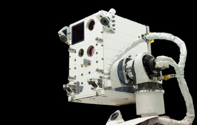 SSL equipment for NASA's Raven technology was delivered to the International Space Station. (Image:  NASA GSFC) (CNW Group/SSL)