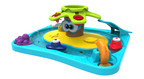 The Wild Water Island is one of 10 new toys in the new Infinifun line of infant and preschool toys by KD Kids. The entire island floats in the bath tub, and a variety of engaging features start to introduce kids to early STEM concepts like water power and cause and effect.