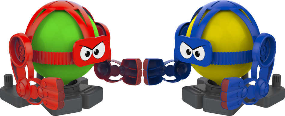 Balloon Bots Battle is one of three new toy-based games by KD Games. Two players go head-to-head trying to pop the other player's balloon before theirs is popped.