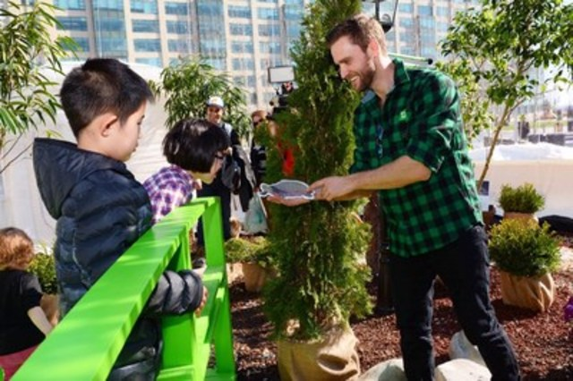 Canadian families momentarily trade winter for spring inside the TD Green Globe at Toronto's Harbourfront  ...
