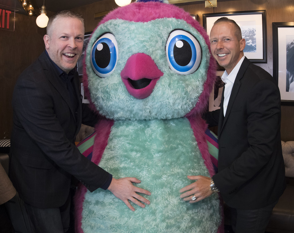 Spin Master's James Martin, Head of Robotics Global Business Unit and Ben Gadbois, Global President amp; Chief Operating Officer with a Hatchimals Penguala (PRNewsFoto/Spin Master)