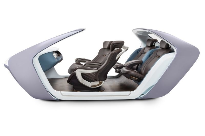 With its AI17 seating demonstrator, Adient is showcasing its seating concept for autonomous driving within a realistic vehicle interior. (PRNewsfoto/Adient Ltd. & Co. KG)