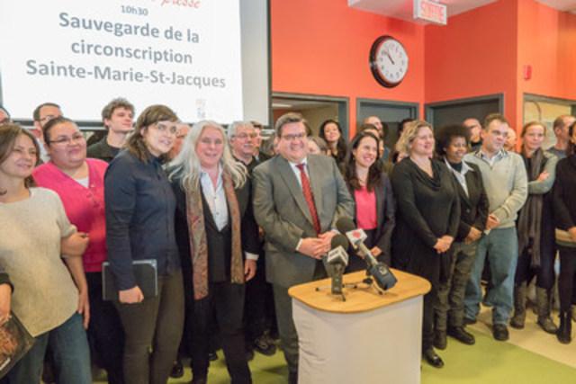 Une trentaine d'organismes du Centre-Sud unissent leurs voix pour sauver Sainte-Marie-Saint-Jacques (Groupe CNW/Aile parlementaire de Québec solidaire)