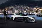 Actor Margot Robbie has been revealed as the new face of Nissan electric cars and zero emission in a staged midnight race around the glamorous streets of Monaco (PRNewsFoto/Nissan Europe)