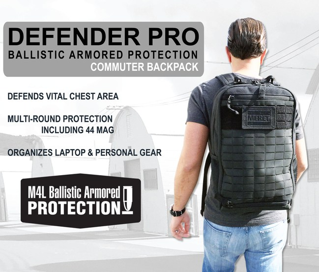 MERET Unveils NEW BALLISTIC ARMORED PROTECTION BACKPACKS for Commuters and First Responders