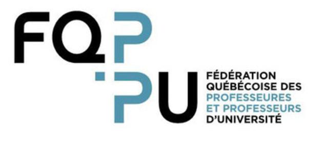 Logo : FQPPU (Groupe CNW/Fédération québécoise des professeures et professeurs d'université)