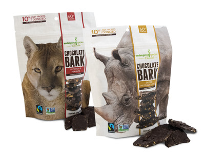 Endangered Species Chocolate - Rescue your hunger with velvety dark chocolate packed with heaps of crunch! Each snappable, snackable bite supports at-risk animals that need our help.  Indulge in a Cause.   Visit www.chocolatebar.com or call 800.293.0160