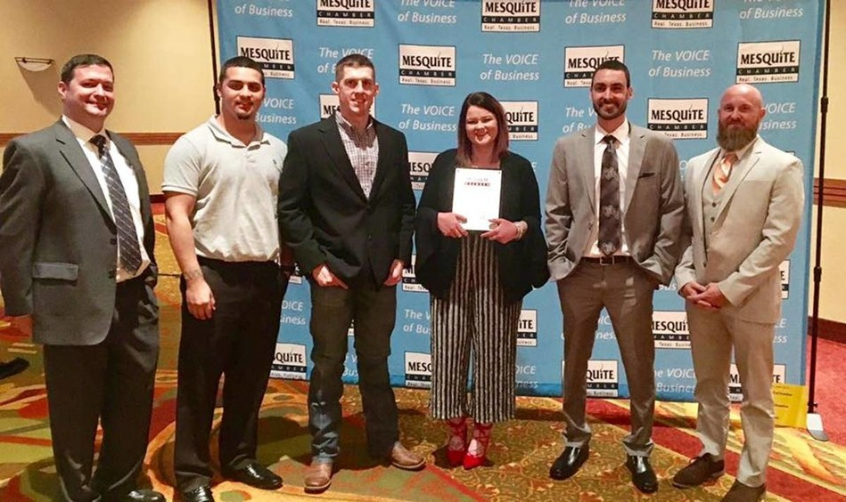LINE-X - a global leader in powerful protective coatings, renowned spray-on bedliners and first-rate truck accessories - announced that one of the company's corporate-owned stores was the recipient of the 2016 Business of the Year award by the Mesquite Texas Chamber of Commerce.