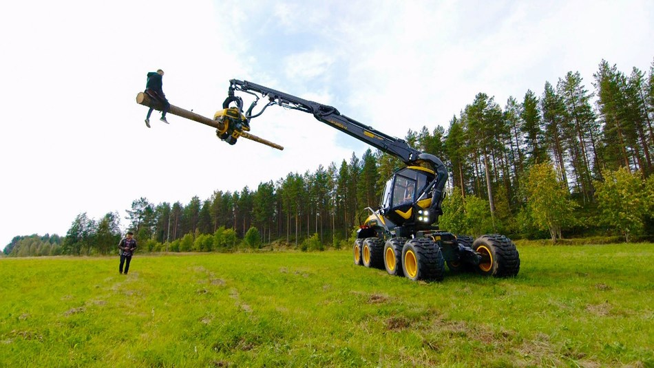The Dudesons demonstrate Finnish innovations through extreme stunts such as the Forest Machine Rodeo (PRNewsFoto/Tekes)