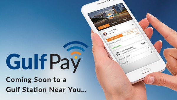The Gulf Pay app allows customers to navigate to the nearest Gulf gas station, pay for fuel at the pump, and purchase products inside the convenience store utilizing fast, simple, and secure mobile payment technology. Users will also have access to reliable directions, live pricing, and exclusive offers all from within the app.