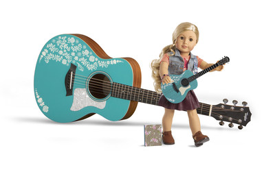 New American Girl(R) Character, Tenney Grant, and life-size Taylor(R) American Girl GS Mini Guitar