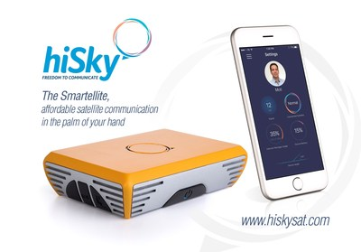 hiSky's Smartellite, affordable satellite communication in the palm of your hand
