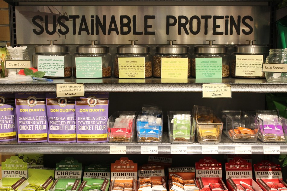 Sustainable Protein section at MOM's Organic Market