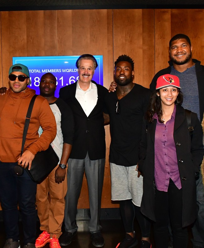 Dr. Mike Evans and NFL stars at the Friends of Zion Museum in Jerusalem