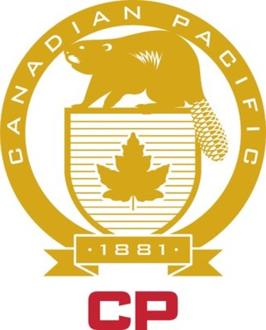 The logo combines two elements: the bold and modern red 'CP' logo mark that has been in use since 2012, and the striking gold heritage shield that features the beaver, Canada's official symbol for sovereignty. (CNW Group/Canadian Pacific)