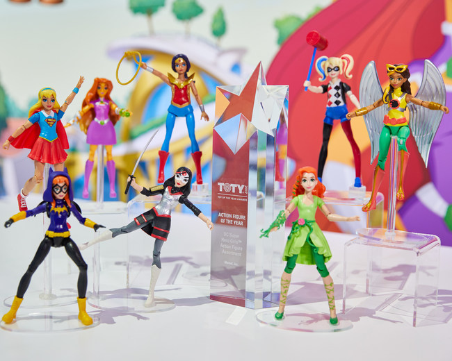 Mattel wins Toy of The Year Award in the Action Figure category for its DC Super Hero Girls(TM) Action Figure Assortment.