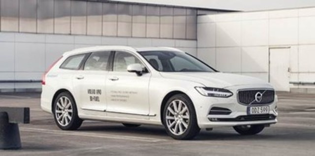 The new Volvo V90 Bi-Fuel equipped with Westport's advanced natural gas technology (CNW Group/Westport Fuel Systems Inc.)