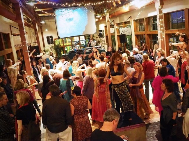 Dance and do good like these revelers at a recent Bollywood Club Invasion Dance Party in Santa Fe
