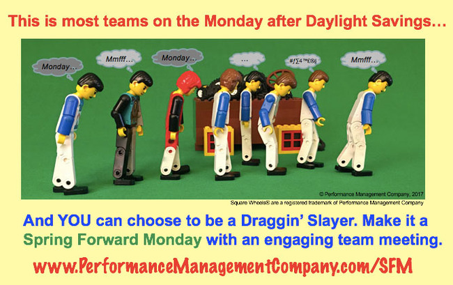 Employees in Draggin' Mode on Spring Forward Monday