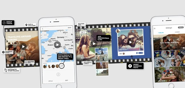 "Storyo - world's first app to create ""instant lifestories"""