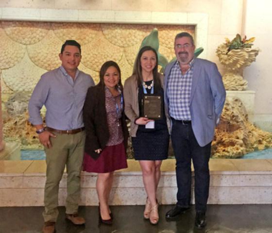 Commercial Sales Team, Blue Diamond Resorts: (L) Alonso Mis, Belinda Ocampo, Delia Osegueda, Antonio Herrera (CNW Group/Blue Diamond Resorts)