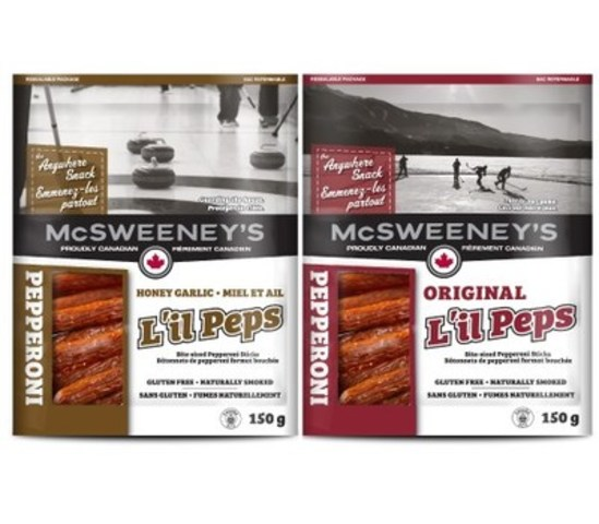 McSweeney's L'il Peps 150g Bite Size Pepperoni Sticks (CNW Group/Direct Plus Food Group)
