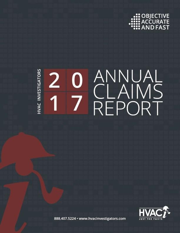 HVAC Investigator's 2017 Annual Claims Report
