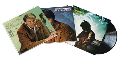"""Glen Campbell's star-making albums, """"Gentle On My Mind,"""" """"Wichita Lineman"""" and """"Galveston"""" will be reissued on vinyl on March 24 via Capitol Nashville/UMe."""