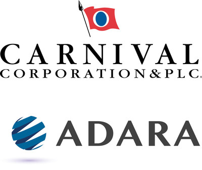 Carnival Corporation & plc, the World's largest leisure travel company, has developed an interactive guest experience platform that enable elevated service levels through enhanced guest interactions before, during and after cruise vacations; ADARA Networks logo