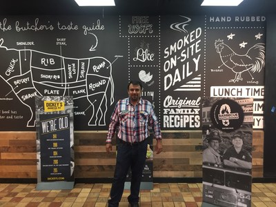 Dickey's new Owner/Operator, Hamid Aktar, opens his first Dickey's Barbecue Pit in Baytown, TX.
