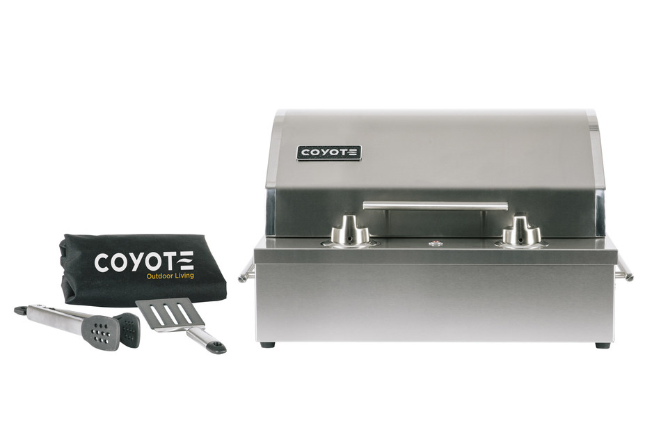 A versatile indoor outdoor electric grill is introduced by for Coyote outdoor grills