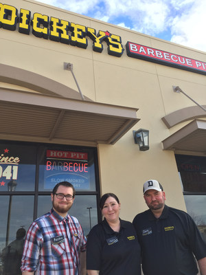 The Teague family opens Dickey's Barbecue Pit's newest location in Jackson, CA.