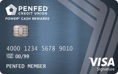 The new PenFed Power Cash Rewards Visa Signature(R) Card