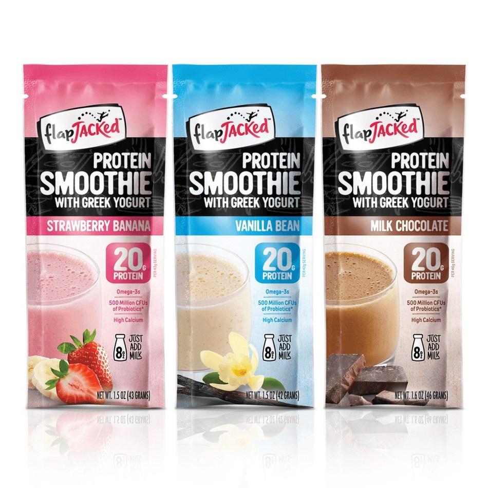 FlapJacked Protein Smoothies with Greek Yogurt