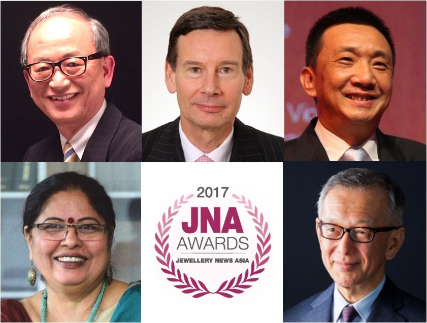 (From top left, clockwise) Albert Cheng, Advisor to the World Gold Council, Far East (WGC); James Courage, former Chief Executive of Platinum Guild International (PGI); Lin Qiang, President and Managing Director of the Shanghai Diamond Exchange (SDE); Yasukazu Suwa, Chairman of Suwa & Son, Inc in Japan; and Nirupa Bhatt, Managing Director of Gemological Institute of America (GIA) India and the Middle East.