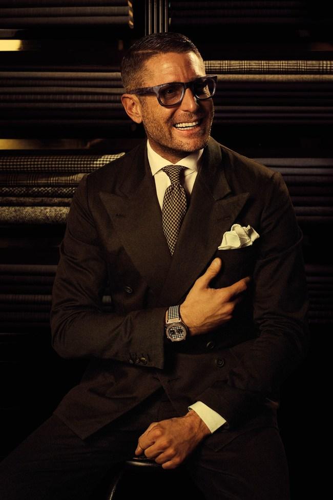 Lapo Elkann presenting the Classic Fusion Italia Independent (PRNewsFoto/HUBLOT)