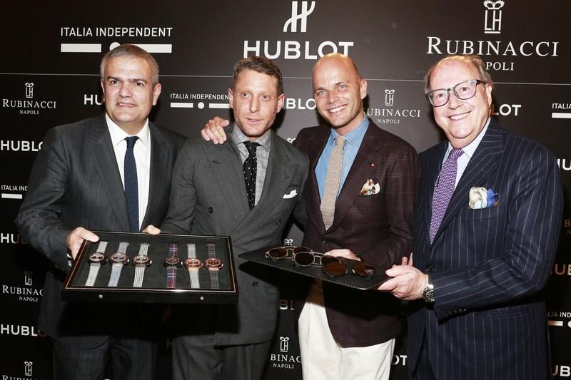 Mariano Rubinacci, Luca Rubinacci, Lapo Elkann and Ricardo Guadalupe (PRNewsFoto/HUBLOT)
