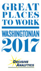 DECISIVE ANALYTICS Lands on Washingtonian's 50 Great Places to Work List!