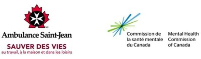 Logos d'Ambulance Saint-Jean et la Commission de la santé mentale du Canada (Groupe CNW/Commission de la santé mentale du Canada)