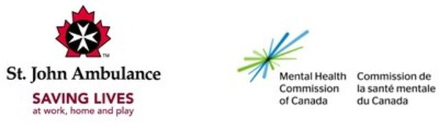 St. John Ambulance and Mental Health Commission of Canada logos. (CNW Group/Mental Health Commission of Canada)
