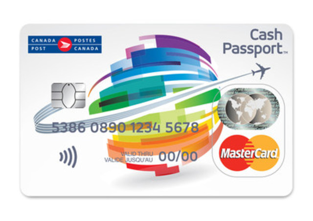 Mastercard and Canada Post, today announced the launch of Cash Passport, the latest payment solution for smart and simple travel. The contactless (tap) card, which allows you to load up to seven currencies at a time, is a convenient and secure alternative to pockets full of cash or travelers' cheques and can be used at millions of ATMs and merchants worldwide anywhere Mastercard is accepted. (CNW Group/Canada Post)