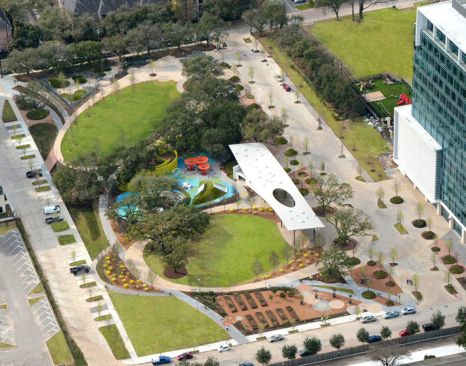 Aerial of Levy Park | OJB Landscape Architecture